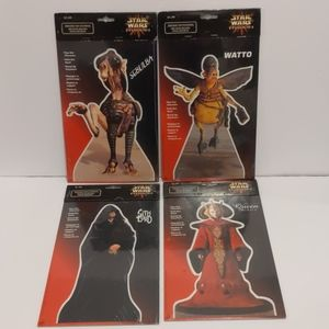 4 Vintage Star Wars Episode 1 pop out c…
